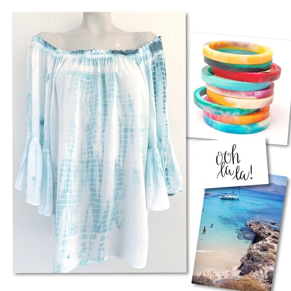 Nordstrom Dresses & Skirts - Elan off shoulder boho beach mini island dress M